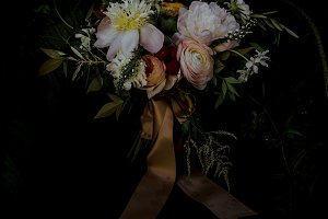 Dark & Moody Flower Bouquet