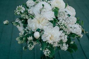 Vintage White Wedding Bouquet