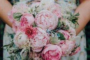 Spring Pink Wedding Bouquet