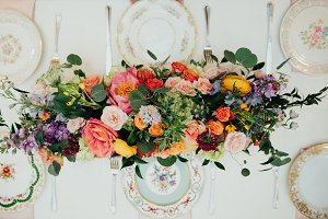 Colorful Vintage Wedding Flowers