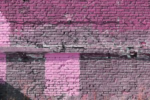 Pink bricks wall texture