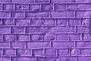 Lilac bricks wall texture