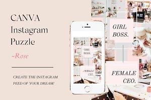 CANVA Instagram Puzzle - ROSE