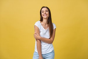 Image of excited young woman