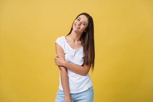 Smiling beautiful young woman in