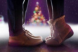 Love Concept, Kissing, Christmas