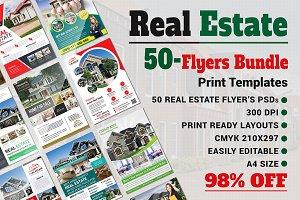 Real Estate Flyers Bundle Templates
