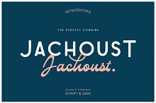 Jachoust Font Duos by  in Display Fonts