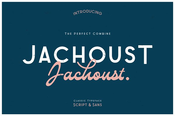 Display Fonts: COB - Jachoust Font Duos