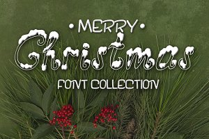 Three fonts for Christmas cards