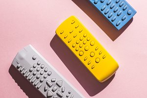 Colored TV remote control
