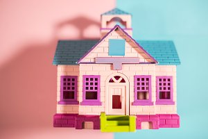 Bright colours house model