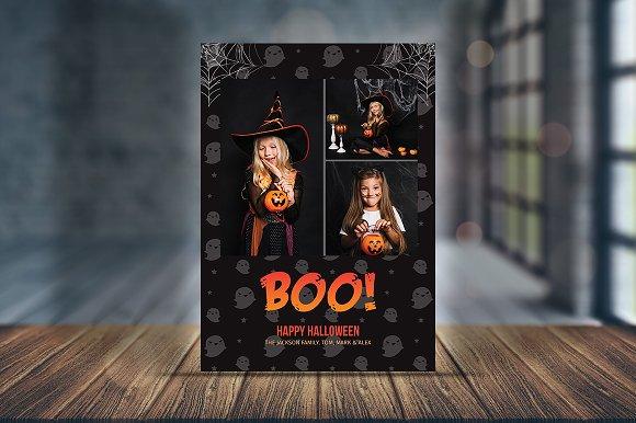 spooky greeting halloween card v02 card templates creative market