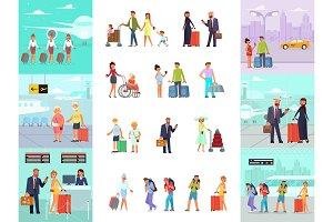 Different travelers characters