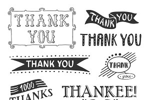 Thank You Lettering Set