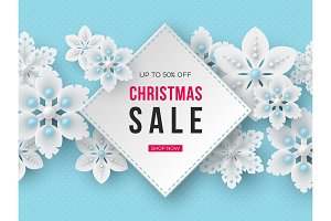 Christmas sale banner with