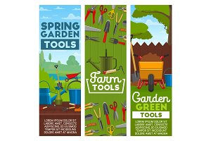 Farm and garden tools, vector