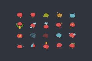 20 x Brain icons