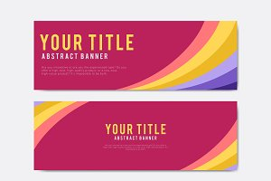 abstract banner design templates