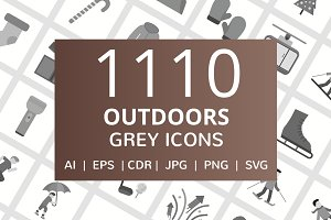 1110 Outdoors Flat Icons