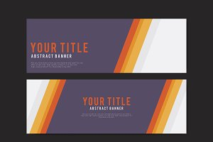 abstract banner design template