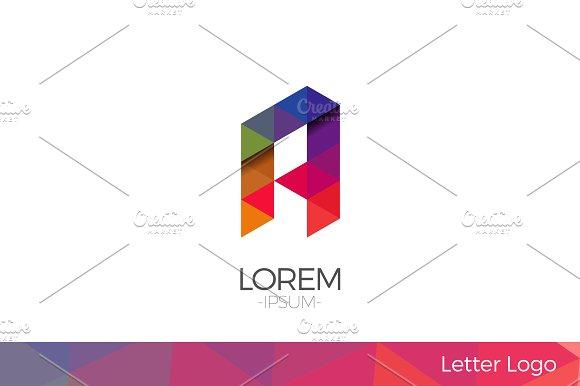 Letter A Vector Origami Logo icon.