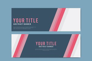 Colorful and abstract banner