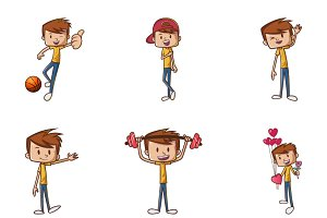 Illustration Of Boy Cartoon