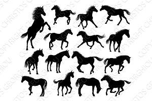 Horse Silhouettes Set