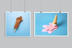 Ice cream splash.