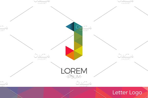 Letter J Vector Origami Logo icon. in Logo Templates