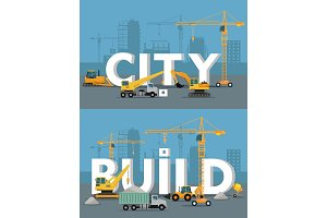 City Build Vector Concept in Flat