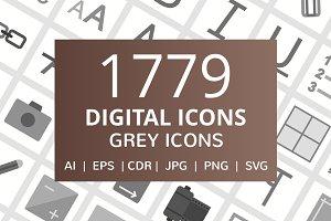 1779 Digital Flat Greyscale Icons