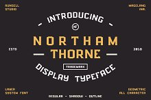 NORTHAM THORNE by  in Display Fonts