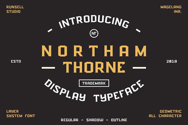 Display Fonts: Runsell Studio - NORTHAM THORNE