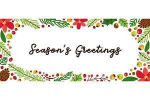 Cute Winter Botanical banner