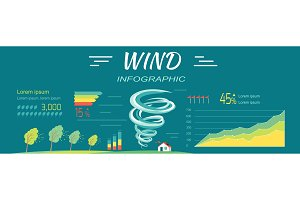 Wind Infographics. Tornado and