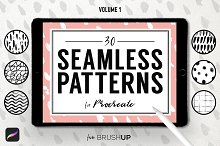Seamless Patterns for Procreate (1) by  in Brushes