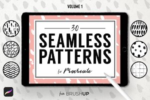 Seamless Patterns for Procreate (1)