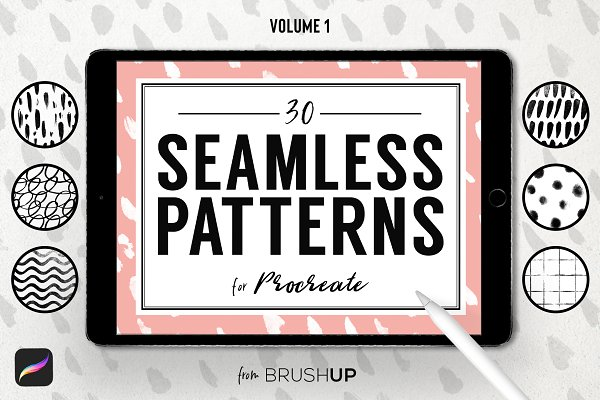 Photoshop Brushes - Seamless Patterns for Procreate (1)