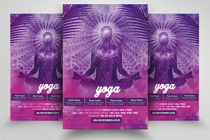 Yoga Gym PSD Flyer Templates