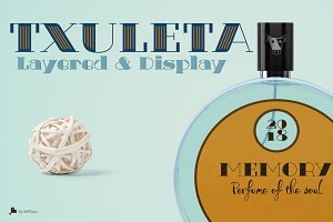 Txuleta Layered & Display -3 fonts-