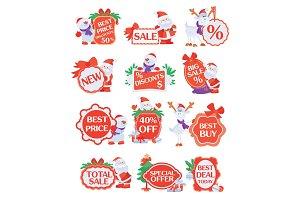 Set of Winter Holidays Discounts