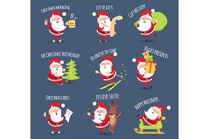 Santa Activities. Christmas Happy