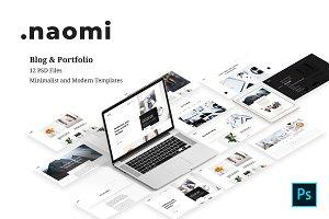 Naomi - Blog & Portfolio PSD