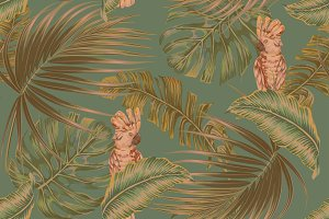 Tropical exotic jungle pattern