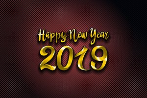 vector gold 2019 Happy New Year