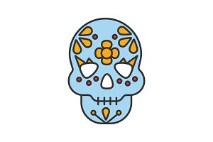 Day of the Dead color icon