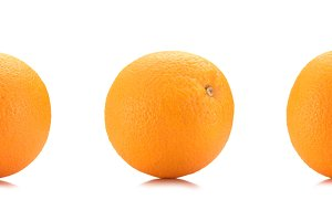 close up view of wholesome oranges i