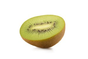 close up view of piece of kiwi fruit